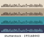 big city  architecture ... | Shutterstock .eps vector #195168443