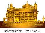 harmandir sahib   golden temple ... | Shutterstock .eps vector #195175283
