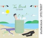 tea break | Shutterstock .eps vector #195178307