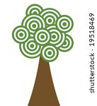 a tree made of green concentric ...   Shutterstock . vector #19518469