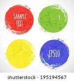bright grunge circles with... | Shutterstock .eps vector #195194567