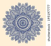 beautiful indian paisley... | Shutterstock .eps vector #195197777