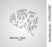 circuit board brain eps 10 ... | Shutterstock .eps vector #195213587