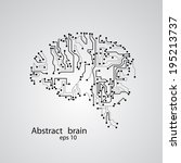 circuit board brain eps 10 ... | Shutterstock .eps vector #195213737