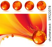 vector illustration   burning... | Shutterstock .eps vector #19522078