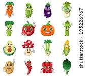 a vector illustration of cute... | Shutterstock .eps vector #195226967