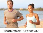 running young pretty couple... | Shutterstock . vector #195235937