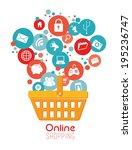 shopping design over white... | Shutterstock .eps vector #195236747