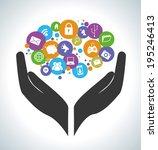 technology design over gray... | Shutterstock .eps vector #195246413