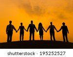 group of business people... | Shutterstock . vector #195252527