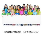 multi ethnic group of children... | Shutterstock . vector #195253217