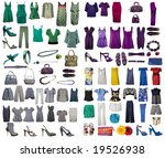 collection of icons of clothes... | Shutterstock . vector #19526938