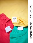 Three Colorful T Shirts. Clean...
