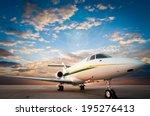 Jet Plane Parked With Nice Sky