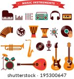 musical instruments  vector... | Shutterstock .eps vector #195300647