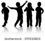 boys silhouettes   Shutterstock .eps vector #195310823