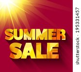 summer sale typography. vector... | Shutterstock .eps vector #195331457
