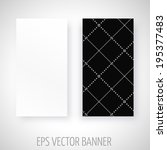 vector banner with black and... | Shutterstock .eps vector #195377483