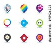 modern world app logo global... | Shutterstock .eps vector #195426323
