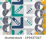 arrows steps design from one... | Shutterstock .eps vector #195437267