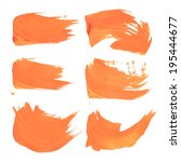 orange liquid paint strokes on... | Shutterstock .eps vector #195444677