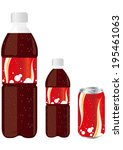 juice drink pet bottle can set... | Shutterstock .eps vector #195461063