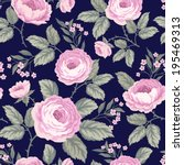 seamless floral pattern with... | Shutterstock .eps vector #195469313