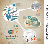 template for infographic with... | Shutterstock .eps vector #195478817