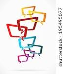 abstract concept vector... | Shutterstock .eps vector #195495077