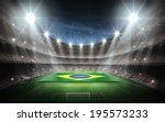 stadium brasil flags | Shutterstock . vector #195573233