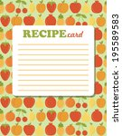 recipe card design. vector... | Shutterstock .eps vector #195589583
