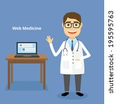 web medicine concept with a... | Shutterstock . vector #195595763