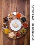 set of tapas tom view | Shutterstock . vector #195630197
