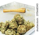 smoking weed  pot  marijuana... | Shutterstock . vector #195668543