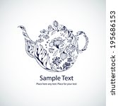 vector illustration with floral ...   Shutterstock .eps vector #195686153