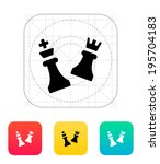 chess attack icon. vector...