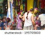 arambol  goa  india   march 17  ... | Shutterstock . vector #195705833