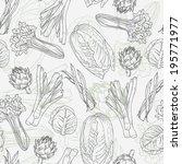 assorted vegetables vector... | Shutterstock .eps vector #195771977