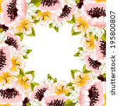 abstract flower background with ... | Shutterstock .eps vector #195800807