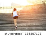 runner athlete running on... | Shutterstock . vector #195807173