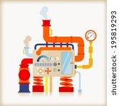 factory machine | Shutterstock .eps vector #195819293