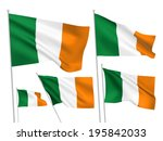 Ireland Vector Flags Set. 5...