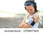 Runner Athlete Listening To...
