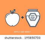 line style honey and apple...