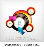 swirl web design infographic... | Shutterstock .eps vector #195854453