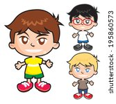 character  young  cartoon  cute ... | Shutterstock .eps vector #195860573