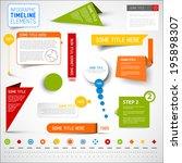 vector infographic timeline... | Shutterstock .eps vector #195898307