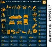 car service  repair... | Shutterstock .eps vector #195909947