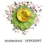 composition of fresh mint... | Shutterstock . vector #195920597