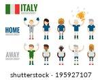 italy soccer team character... | Shutterstock .eps vector #195927107
